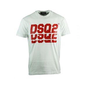 Dsquared2 Layered Logo Cool Fit White T-Shirt  - White - Size: Medium