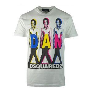 Dsquared2 DSquared2 S74GD0498 S22427 100 T-Shirt  - White - Size: Medium