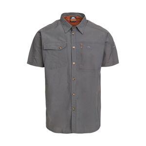 Trespass Mens Lowrel Short Sleeve UV Protected Outdoor Walking Shirts  - Grey - Size: Small