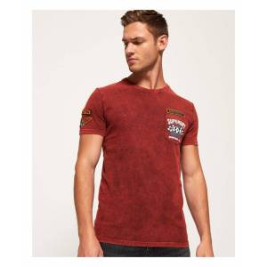 Superdry Custom Denim Stitch Pocket T-Shirt  - Red - Size: Extra Large