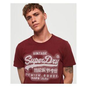 Superdry Premium Goods T-Shirt  - Red - Size: Medium