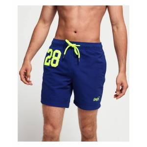 Superdry Water Polo Swim Shorts  - Blue - Size: Medium