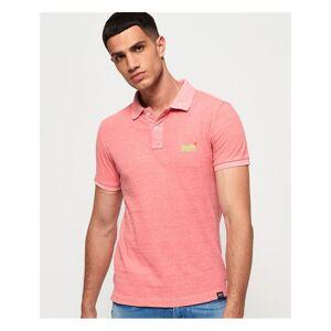 Superdry Orange Label Jersey Polo Shirt  - Pink - Size: Extra Large