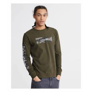 Superdry Chromatic Long Sleeve Top  - Green - Size: Medium