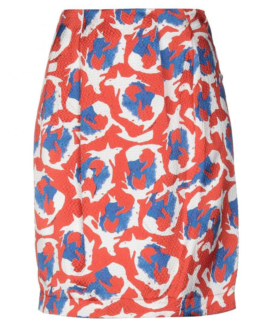 L' Autre Chose Womens Woman Knee length skirts Silk - Red - Size 10