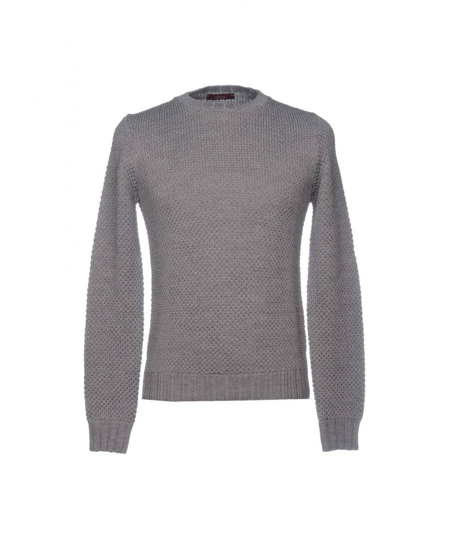 Become Mens KNITWEAR Man Grey Merinos Wool - Size 2XL