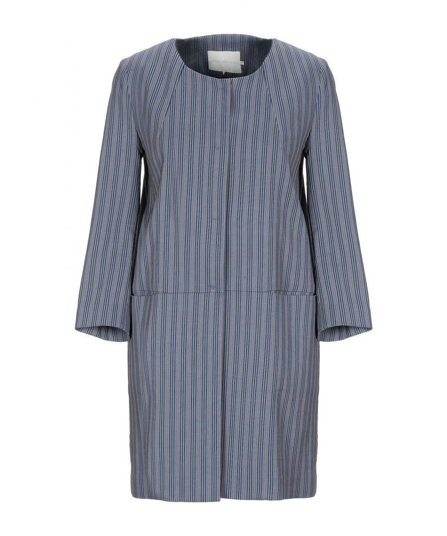 L' Autre Chose Womens COATS & JACKETS Woman Slate blue Cotton - Size 12