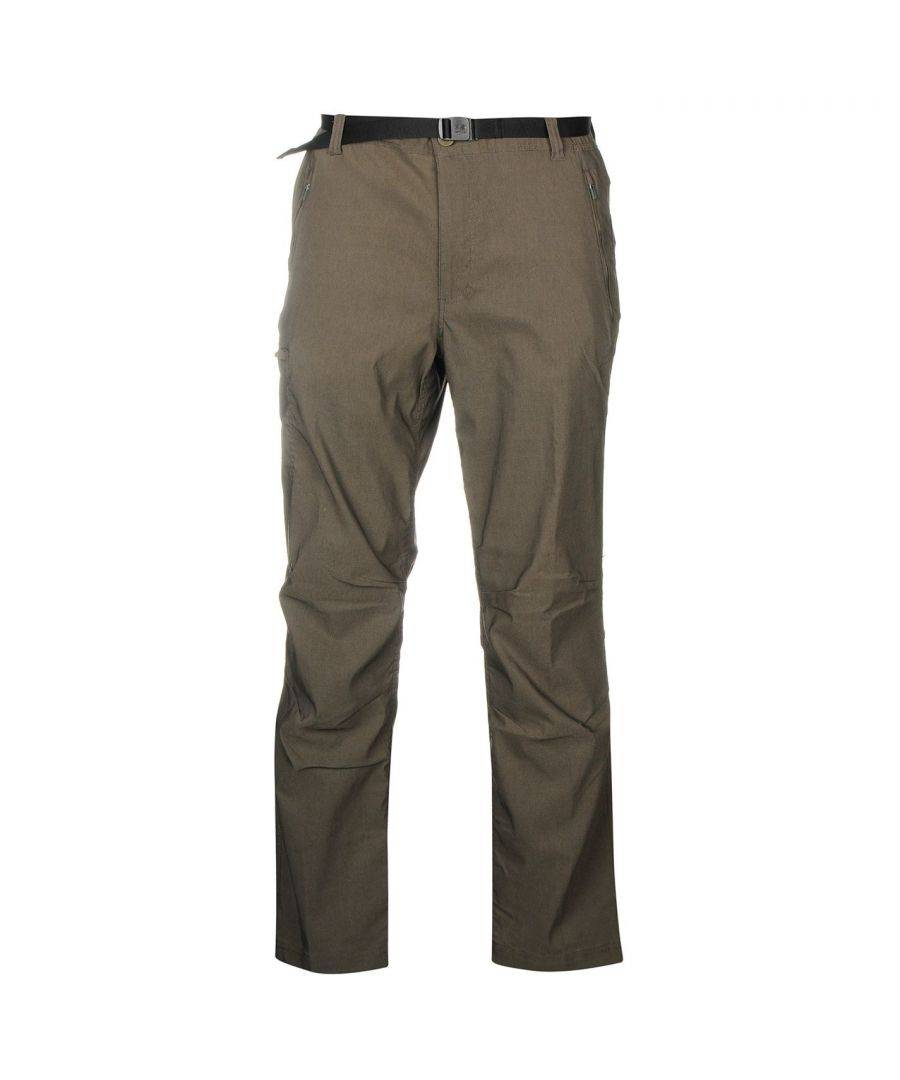 Karrimor Mens Panther Trousers Button Waist Zip Fly Midweight Pants Bottoms - Khaki Rayon - Size M