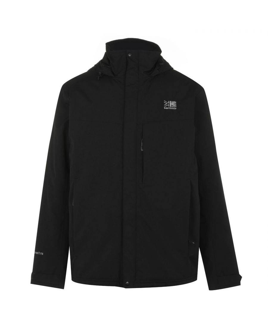 Karrimor Mens Boys Padded Jacket Junior Insulated Long Sleeve Pockets Outerwear Top - Black - Size L