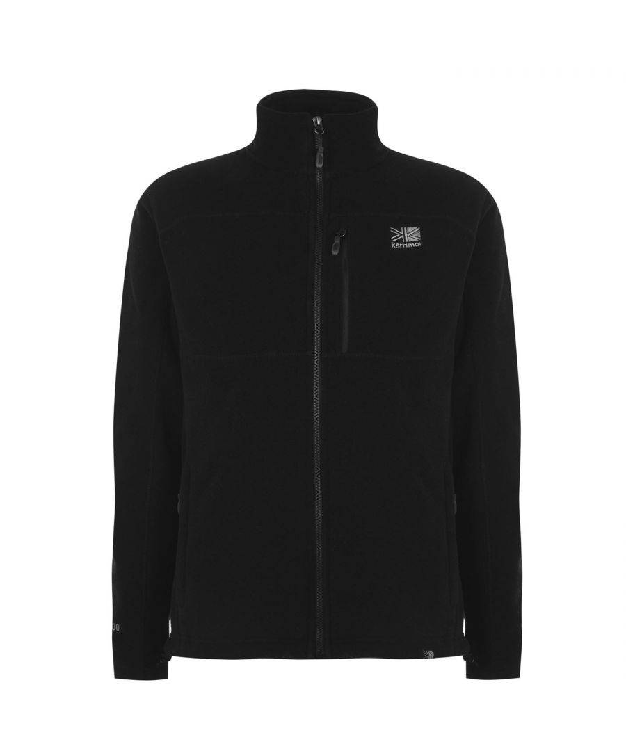 Karrimor Mens Fleece Jacket Zip Through Top Long Sleeve High Collar Pockets - Black - Size 4XL