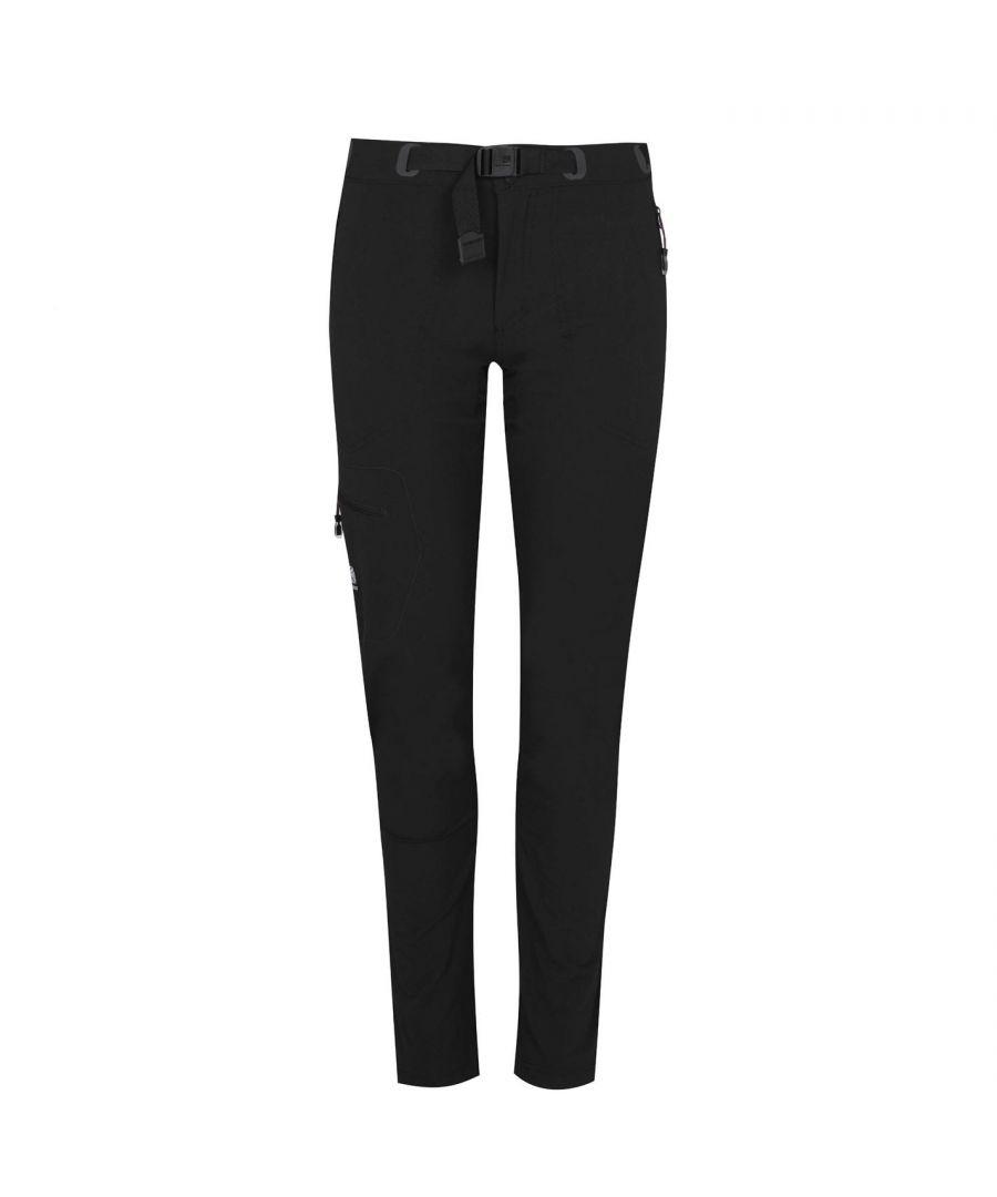 Karrimor Womens Hot Rock Trousers Lightweight Waterproof Pants Casual Bottoms - Black Nylon - Size 18