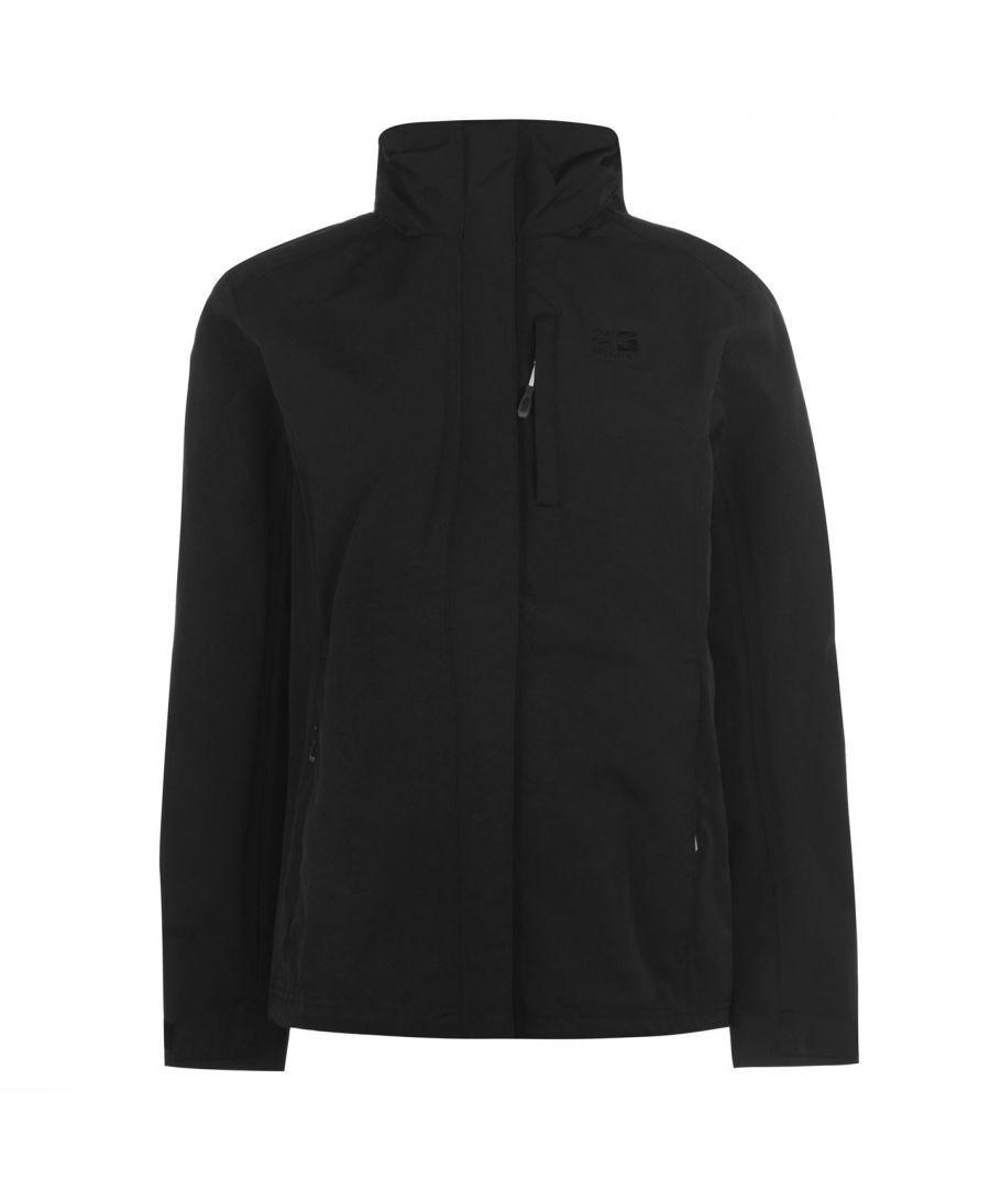 Karrimor Womens Urban Jacket Ladies Weathertite Waterproof Foldaway Hood - Black Nylon - Size 8