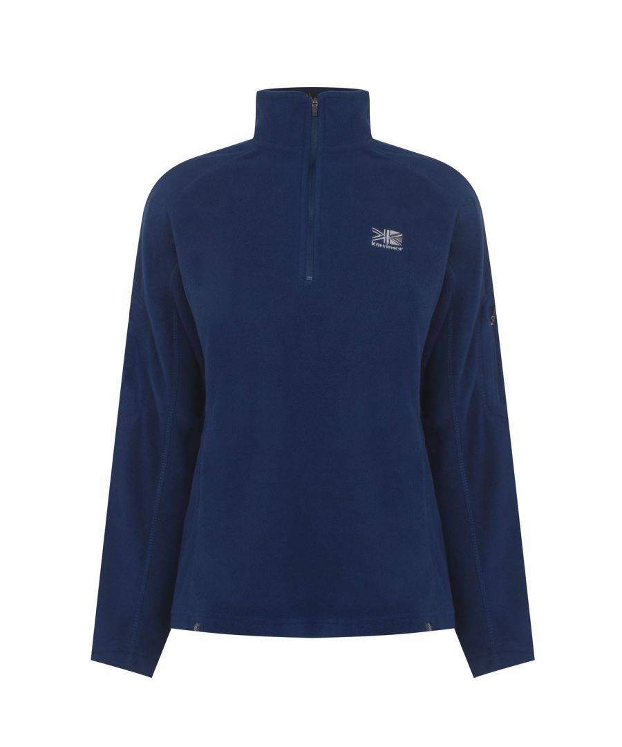 Karrimor Womens Ladies Microfleece Pullover Sportswear Activewear Top Warm - Navy - Size 16