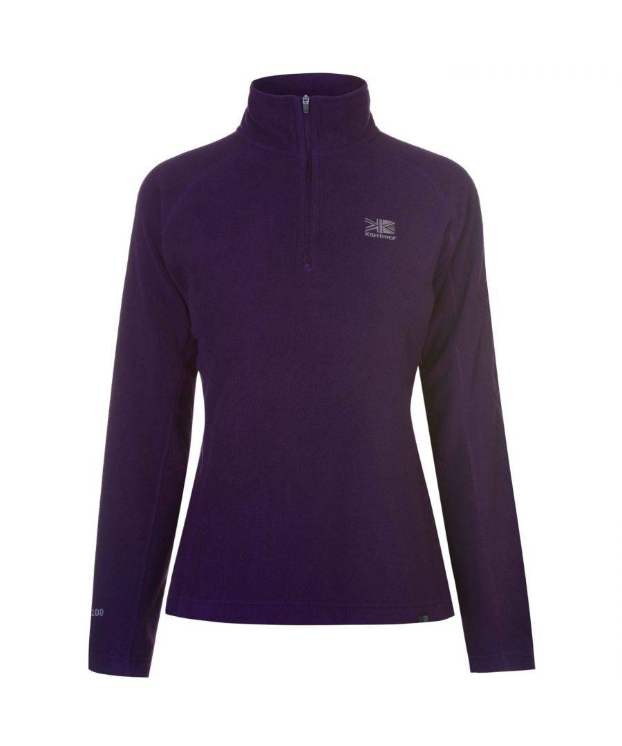 Karrimor Womens Ladies Microfleece Pullover Sportswear Activewear Top Warm - Purple - Size 6