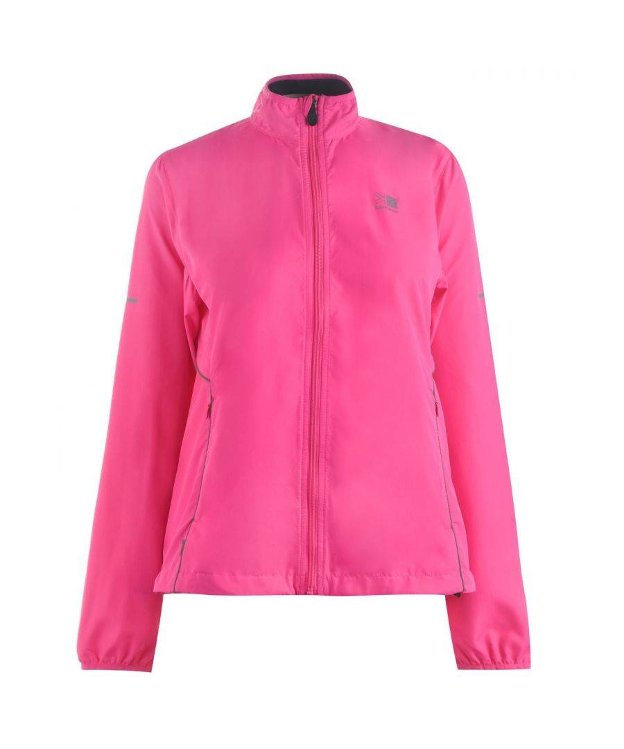 Karrimor Womens Running Jacket Performance Coat Top Long Sleeve Breathable - Pink - Size 8