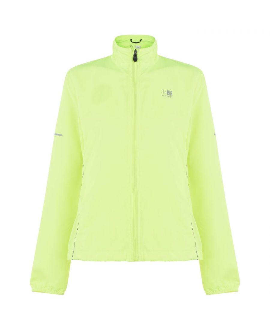 Karrimor Womens Running Jacket Performance Coat Top Long Sleeve Breathable - Neon - Size 6