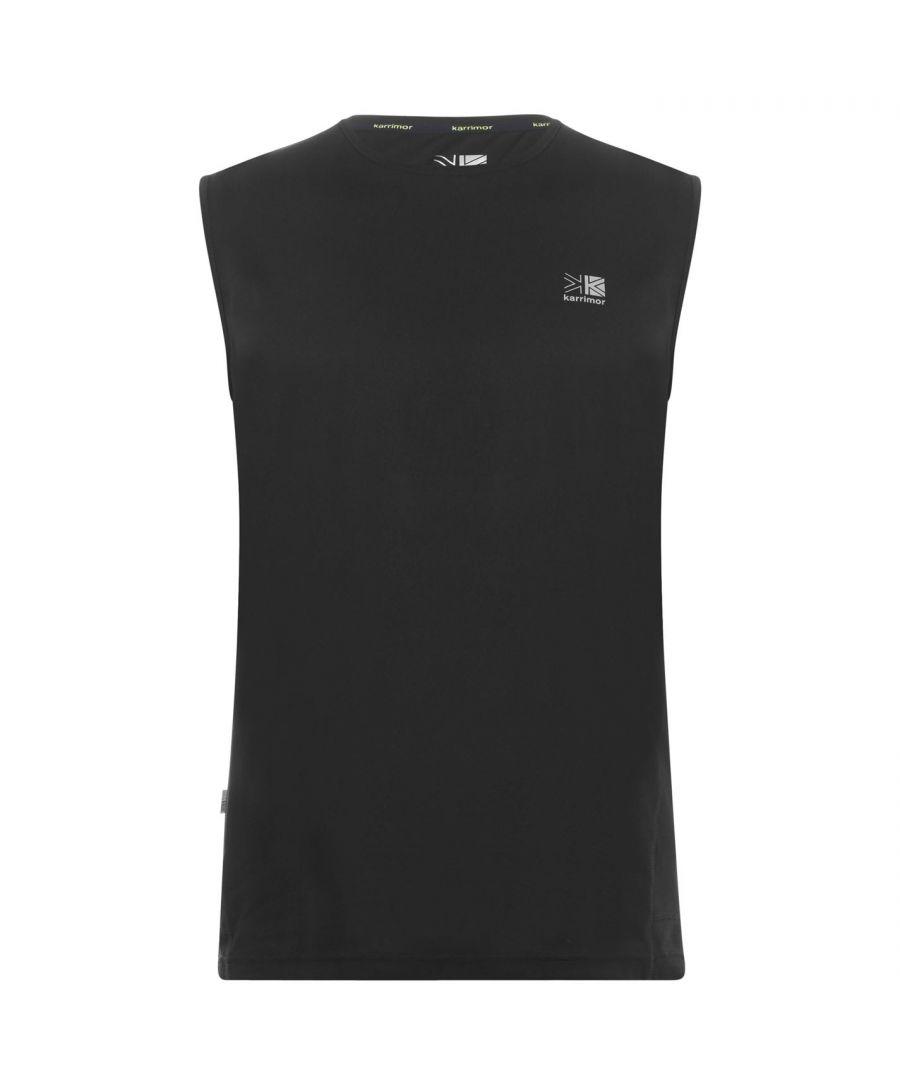 Karrimor Mens Sleeveless Crew Neck Vest Soft Fabric Lightweight T-Shirt Tee Top - Black - Size S