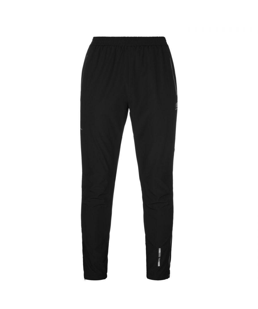 Karrimor Mens Xlite Tracksuit Pants Outdoor Warm Sports Elastic Training Bottoms - Black - Size M