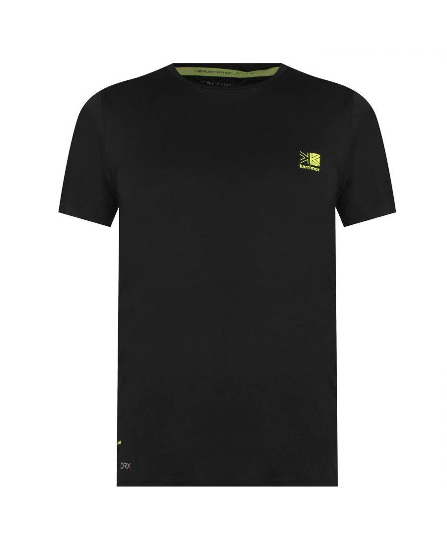 Karrimor Mens X Lite Race T Shirt Short Sleeve Performance Tee Top Crew Neck - Black - Size X-Small