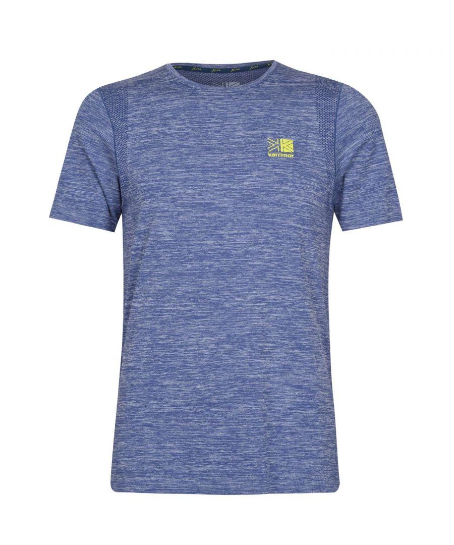 Karrimor Mens X Lite Rapid Running T Shirt Short Sleeve Crew T-Shirt Tee Top - Navy - Size L