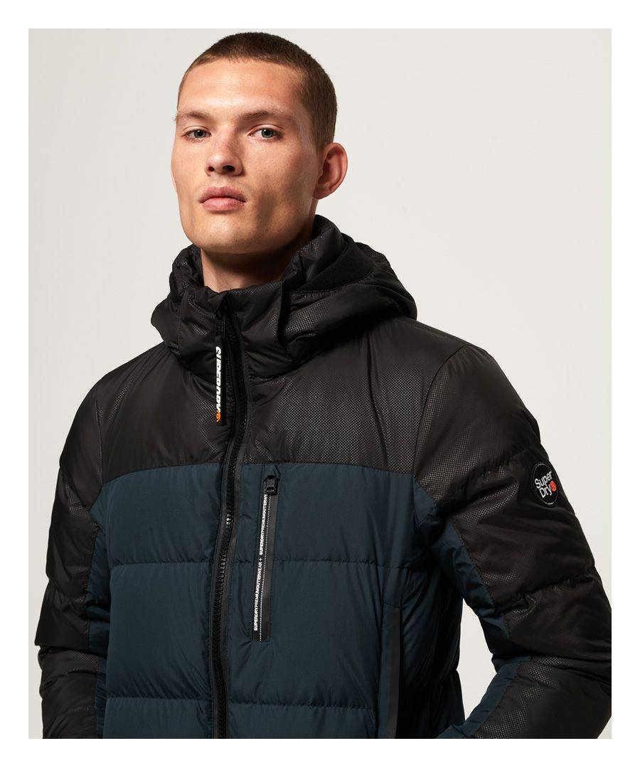 Superdry Mens Cortex Down Jacket - Blue - Size L