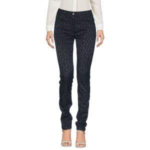 Cavalli Class Black Cotton Jacquard Tapered Leg Trousers  - Black - Size: 18