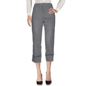 Pf Paola Frani Dark blue Acetate Casual trousers  - Blue - Size: 12