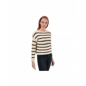 Only Women's Marina Life Striped Jumper in Navy  - Blue - Size: 14