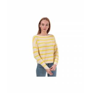 Only Women's Marina Life Striped Jumper in Gold  - Gold - Size: 8