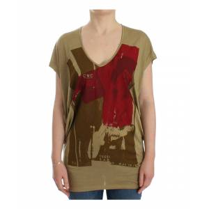 Costume National Womens Green print shortsleeve t-shirt - Multicolour - Size X-Small