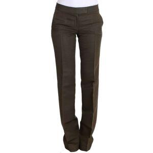 Ermanno Scervino Womens Green Cotton Viscose Dress Formal Pants - Multicolour - Size S