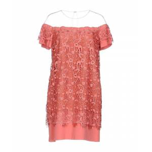 Atos Lombardini Pastel Pink Tulle And Lace Dress  - Pink - Size: 12