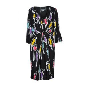 Moschino Boutique Moschino Black Print Long Sleeve Dress  - Black - Size: 14