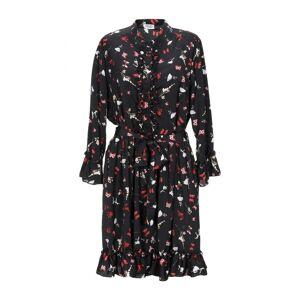 Liu Jo Black Print Long Sleeve Dress  - Black - Size: 14