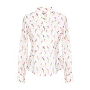 Camicettasnob White Print Cotton Shirt  - White - Size: 8