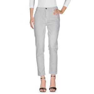 Current/Elliott Light Grey Cotton Straight Leg Jeans  - Grey - Size: 26