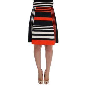 Dolce & Gabbana Womens Black Orange Striped Brocade Skirt - Multicolour - Size X-Small