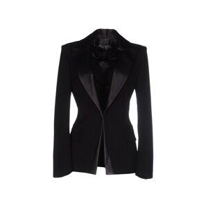 Plein Sud Black Leather Trim Blazer  - Black - Size: 18