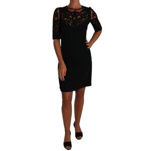 Dolce & Gabbana Black Floral Cut Out Pattern Coctail Dress  - Multicolour - Size: Small