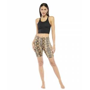 Electric Yoga Snake Shorts  - Brown - Size: Small