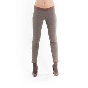 Conquista Lurex Leggings brown  - Brown - Size: 10