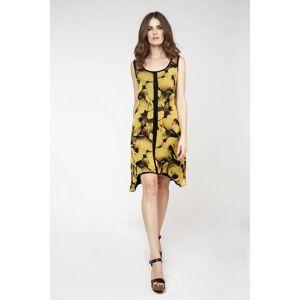 Conquista Sleeveless Double Layer Dress  - Black - Size: 10