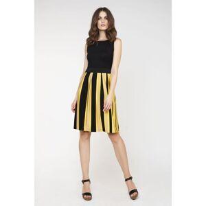 Conquista Sleeveless Summer Dress  - Black - Size: 18