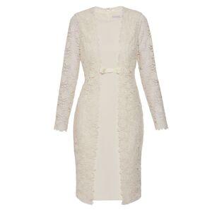 Gina Bacconi Summer Lace And Crepe Dress  - Cream - Size: 22