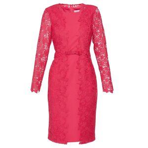 Gina Bacconi Summer Lace And Crepe Dress  - Pink - Size: 22