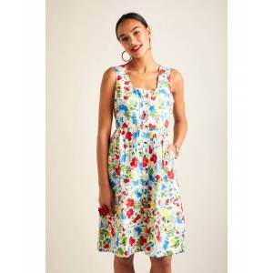 Yumi Country Floral Summer Dress  - Multicolour - Size: 14