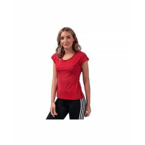 Adidas Women's adidas Barricade T-Shirt in Red  - Red - Size: 22