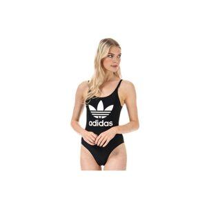 Adidas Originals Women's adidas Trefoil Swimsuit in Black  - Black - Size: 10