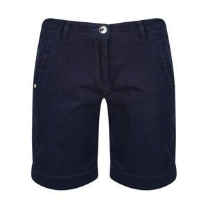 Regatta Womens Solita Cotton Blend Casual Long Summer Shorts - Navy - Size 18