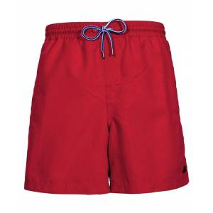Trespass Mens Granvin Casual Summer Surf Mid Length Quick Dry Shorts  - Red - Size: Large